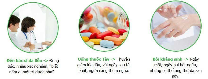 Đã thử nhiều phương pháp trị nấm da nhưng không khỏi